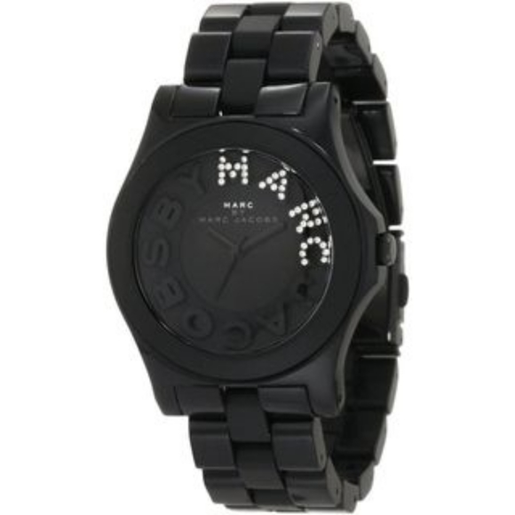 Marc by marc jacobs black stainless steal watch